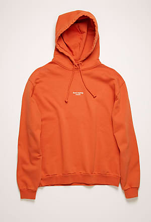Acne Studios FN-WN-SWEA000077 Poppy Red Reverse-logo hooded sweatshirt