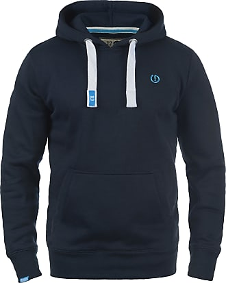 Solid BennHood Mens Hoodie Hooded Sweatshirt Jumper with Hood with Fleece Lining, Size:S, Colour:Insignia Blue (1991)