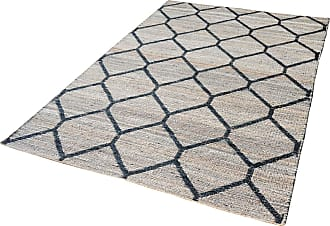 Dimond Home Econ Jacquard Weave Jute Rug In Natural And Black - 5ft x 8ft