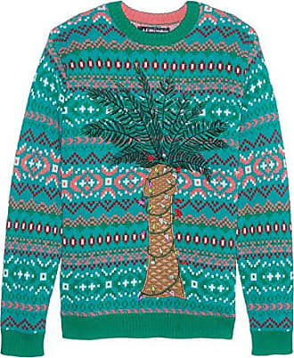 Blizzard Bay Mens Palm Tree Lights Ugly Christmas Sweater, Small