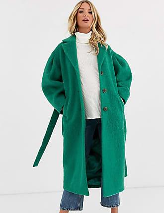 Asos Maternity ASOS DESIGN Maternity power sleeve coat in green