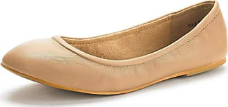 Dream Pairs Womens Slip On Round Toe Ballet Flats Pumps Shoes Sole-Fina Nude - 6.5 M US