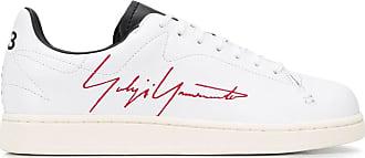 Yohji Yamamoto side script sneakers - White