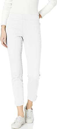 NYDJ Womens Pull ON Skinny Ankle Jean with Side Slit, Optic White, 10 26