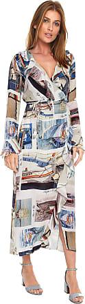 Lez a Lez Vestido Lez a Lez Midi Transpassado Branco