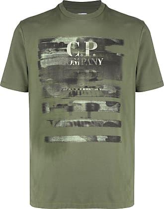 C.P. Company Camiseta com logo e efeito destroyed - Verde