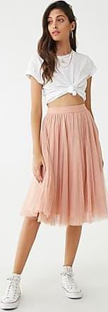 Forever 21 Forever 21 Pleated Tulle Skirt Blush
