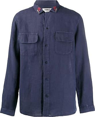 Ymc You Must Create Camisa com bordado - Azul