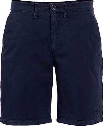 Weird Fish Naila Plain Chino Shorts Dark Navy Size 16