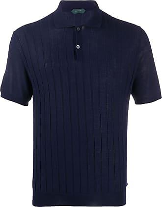 Zanone Camisa polo canelada - Azul