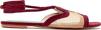 Blue Bird Shoes Shower flat Recortes Tela - Vermelho