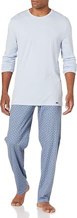Hanro Night /& Day Jersey Top /& Bottoms Men/'s Pyjama Gift Set Grey//Navy