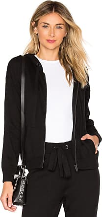 Splendid Bungalow Zip Hoodie in Black