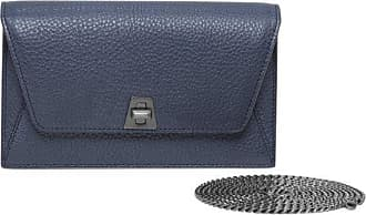 MQaccessories Envelope in Cervo Structured Nappa Leather with Detachable Shoulder Chain