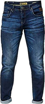 Rusty Neal 5-Pocket Denim Jeans Herren Slim Fit Used Design Orange Nähte 7444-1