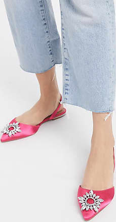 Asos Luminous embellished slingback ballet flats in pink