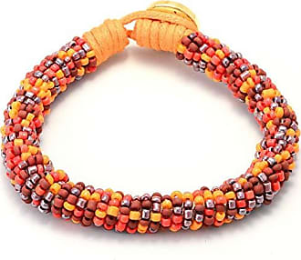 Tinna Jewelry Pulseira De Miçangas (Laranja E Vermelho)