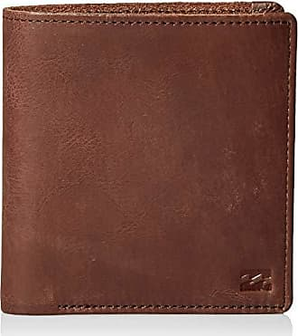 Billabong Mens Gaviotas Leather Wallet Brown One Size