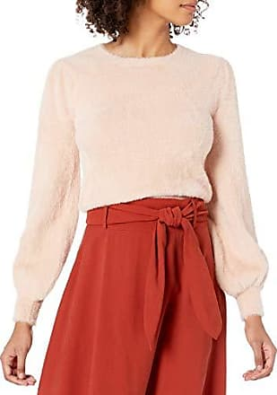 ASTR the label Womens Twist Front Long Sleeve Solid Knit Sweater