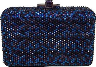 1f1ecfd34b Judith Leiber Blue And Purple Swarovski Crystal Minaudiere Evening Bag  Clutch