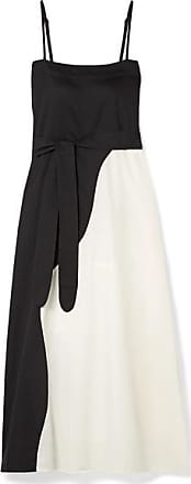Mara Hoffman Philomena Two-tone Organic Cotton-voile Maxi Dress - Black