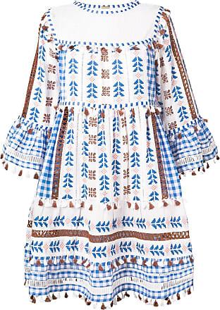 Dodo Bar Or Vestido bordado de tassel - Azul