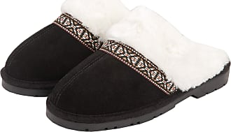 Jessica Simpson Womens Genuine Suede Plush Slip On Scuff House Slipper with Indoor/Outdoor Sole