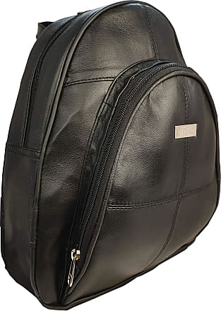 Quenchy London Designer Leather Backpack Handbag for Women Crafted from Soft Black Sheep Nappa Medium Bag with Multiple Pockets 28cm x26cm x10cm QL948