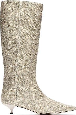 Rosie Assoulin Bota de couro - Dourado