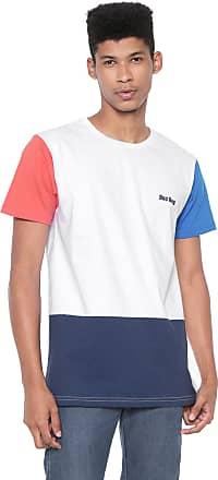 Doc Dog Camiseta Doc Dog Manga Curta Recortes Branca/Azul
