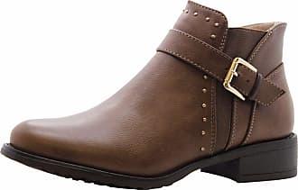 Saute Styles Womens Flat Block Heels Chelsea School Ankle Boots Size 3 Khaki