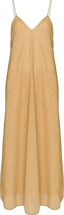 Oséree Vestido longo Lumiere dourado de lurex