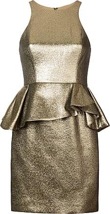 Halston Heritage Vestido com peplum - Dourado