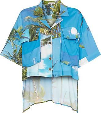 Natasha Zinko Camicia con stampa Hawaian - Di colore blu