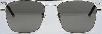 Saint Laurent Rechteckige Metall-Sonnenbrille