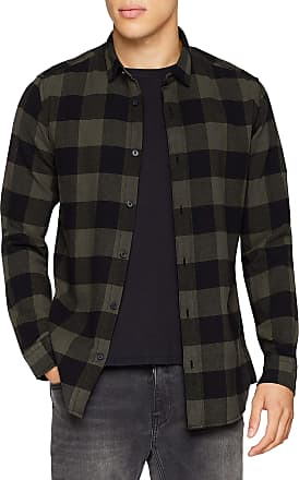 Only & Sons Mens Onsgudmund Ls Checked Shirt Noos Casual, Green (Forest Night Forest Night), X-Small