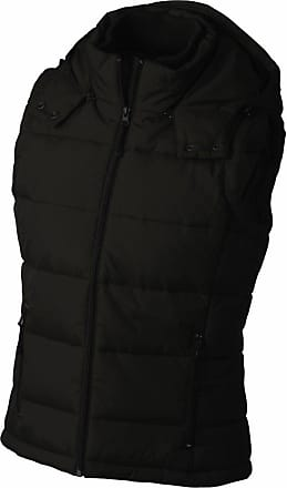 James & Nicholson JN1005 Ladies Puffer Quilted Water Resistant Gilet Black Size XL
