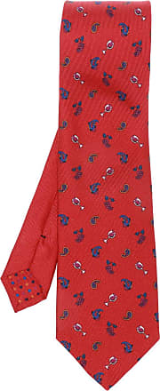 Etro Patterned Tie Mens Red