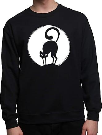 Bang Tidy Clothing Halloween Jumper Sweatshirt Black Cat Fancy Dress for Men-BLK-XXL