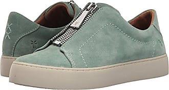 Frye Womens Lena Zip Low Sneaker, Mint, 5.5 M US