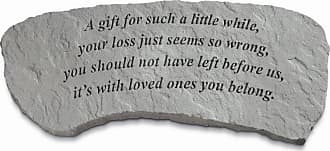 Kay Berry Outdoor Kay Berry A Gift For Such A Little While Memorial Bench - 29 in. Cast Stone - 35820