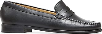 Van Dal Womens Hampden X Wide Fit Black Leather Penny Loafer Flats, Size 38 EU