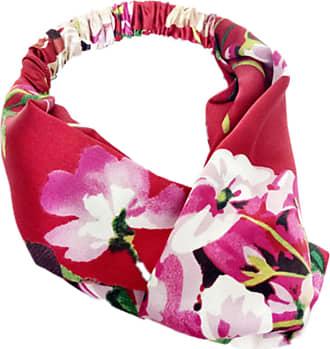 Generic Floral Twist Knot Headband Elastic Wrap Turban Hair Band Yoga Sports Lady Silky (Red)