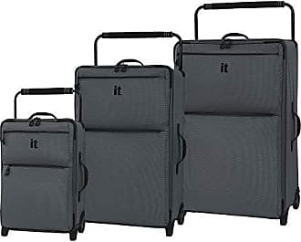 IT Luggage IT Luggage Worlds Lightest Los Angeles 2 Wheel 3 Piece Set, Charcoal Grey