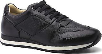 Doctor Shoes Antistaffa Sapatênis Masculino 4062 em Couro Floater Preto Doctor Shoes-Preto-39