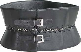 Jean Paul Gaultier Vintage Size75 Belt In Black Leather And Silver Plated  Metal 67d82fbcae2a