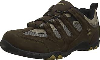 Hi-Tec Mens QUADRA Classic Low Rise Hiking Boots, Brown (Chocolate/Dull Gold 48), 8 (42 EU)