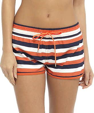 Tom Franks Womens Beach Shorts Print Summer Holiday Casual Hot Pants - Striped, Medium