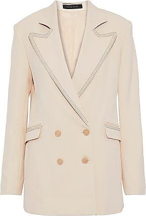 Roland Mouret Roland Mouret Woman Gilroy Double-breasted Alpaca And Wool-blend Twill Blazer Beige Size 10