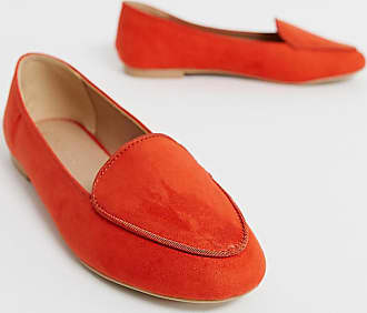 New Look piped loafer in bright orange - Orange
